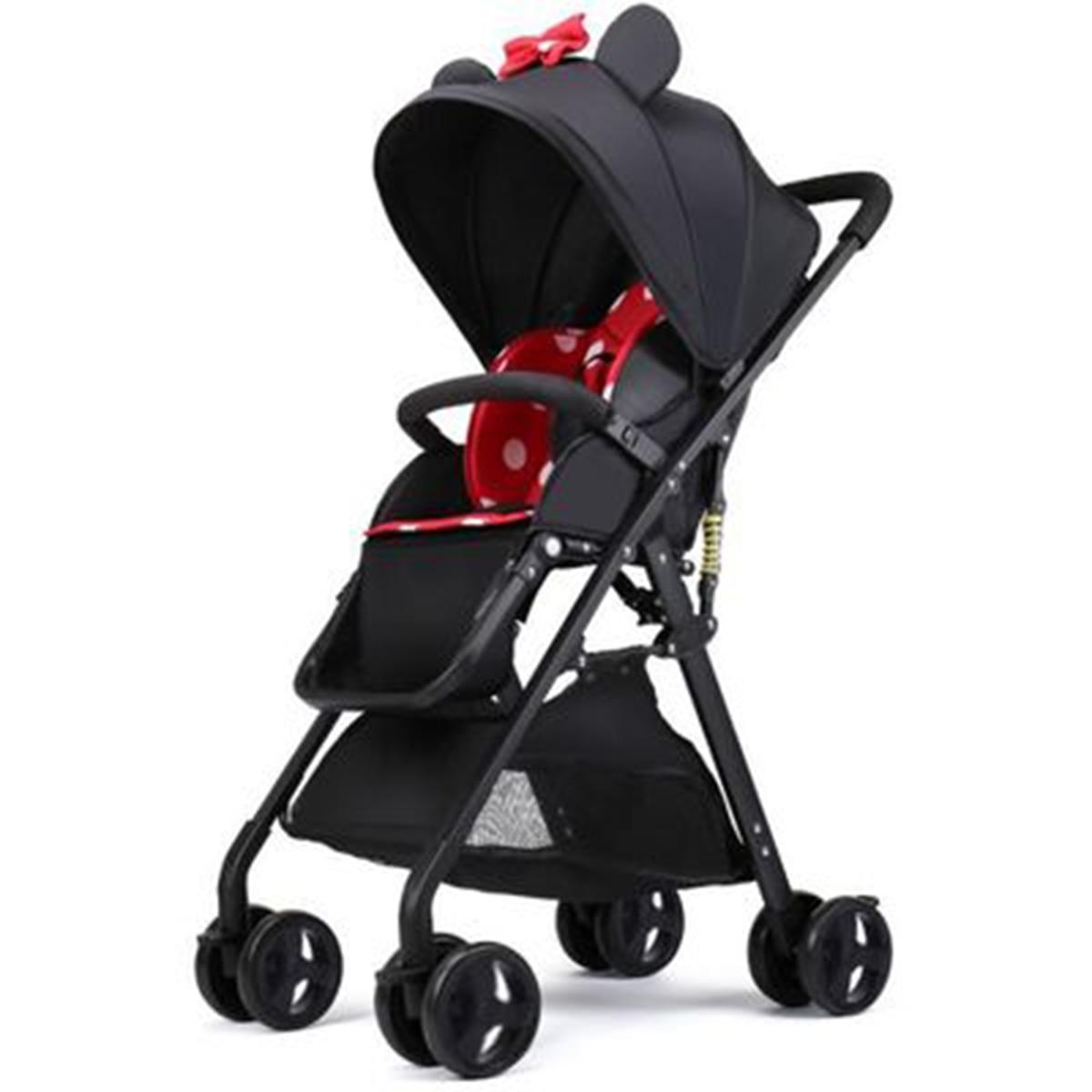 Baby stroller can sit reclining 4.8kg ultra light portable folding baby umbrella four wheel children stroller