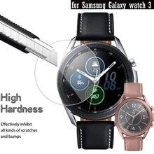 Película protectora de pantalla de reloj de vidrio templado para Samsung Galaxy watch 3, películas transparentes Full HD a prueba de explosiones, antiarañazos, 41mm y 45mm