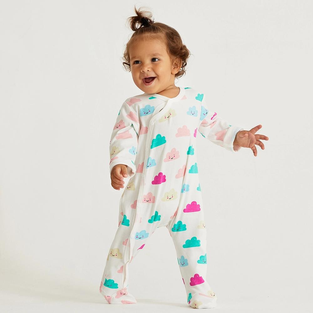 PatPat 2020 Spring And Autumn Baby Boy And Girl Cloud Allover Long-sleeve One Pieces Jumpsuit