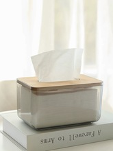 Bamboo Cover Tissue Box Tissue Container Napkin Tissue Holder Storage Box Container Office Home Organizer Table Tissue Box flower print tissue cover