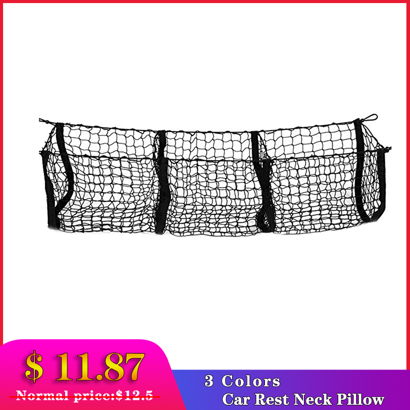 Car Trunk Net Bag Three Grid Luggage Three Dimensional Net Pocket The cargo storage net fixing and placement of luggage|Rear Racks & Accessories| |  - title=