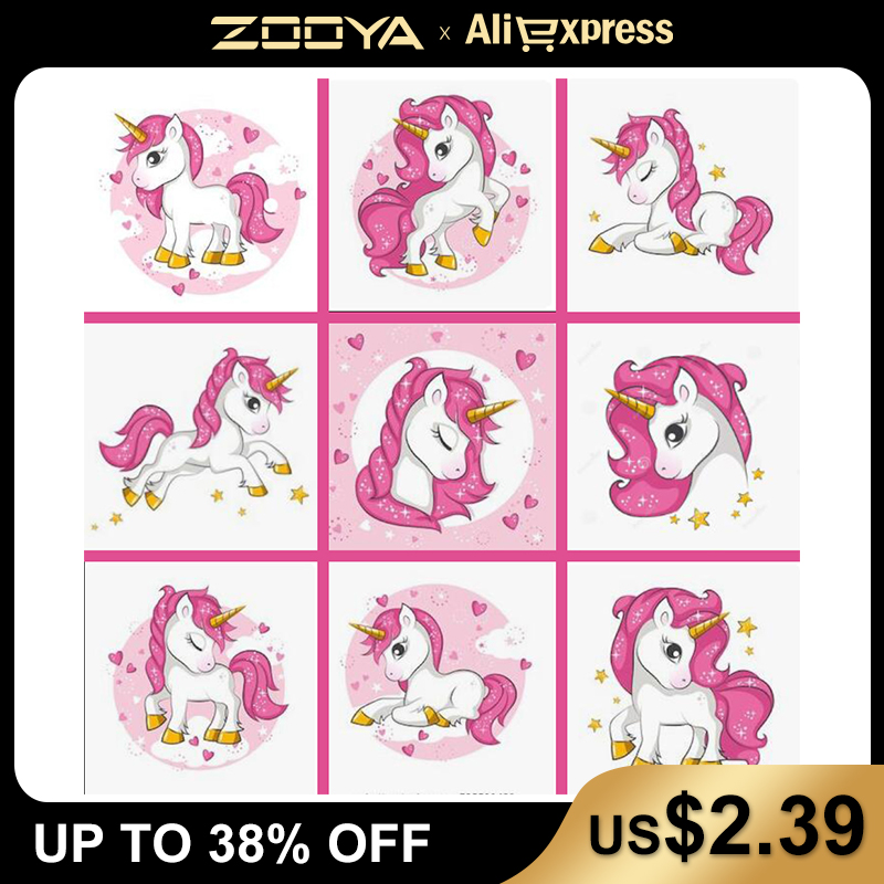 New 5d Diy Diamond Painting Unicorn Diamond Embroidery Cartoon pony rainbow child's Mosaic Sale Full Square Drill by number FDJB(China)