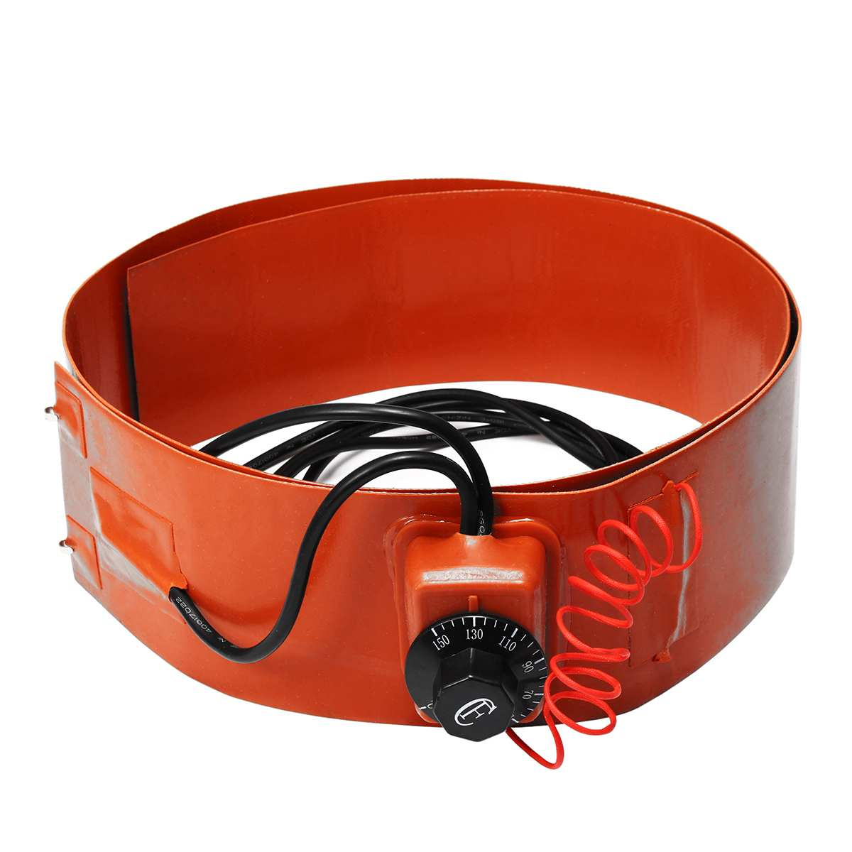 Flexible Silicone Drum Silicon Rubber Heating Belt Energy Biodiesel Equipment Thermostat Control Replacement Accessories 700W