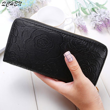 купить Women Wallets Long Zipper Luxury Brand Leather Coin Purses printing Clutch Wallets Female Money Bag Credit Card Holder  527 по цене 473.87 рублей