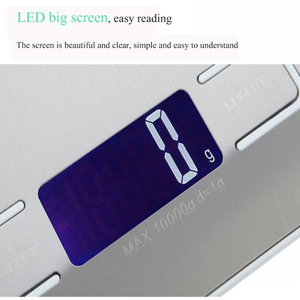 10 кг ЖК-дисплей Портативный Электронные цифровые весы карманные чехол почтовой Нержавеющаясталь Кухня Еда весы Баланс весы # LR1-4