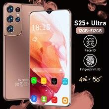 Global Version S25+ Ultra 6.7 Inch Smartphone 6500mAh Full Screen Deca Core 12GB 512GB 4G LTE 5G Network Cellphones