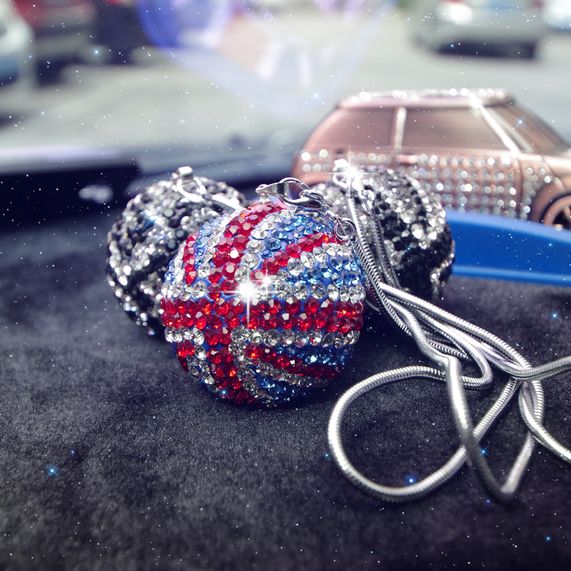 Bling-Car-Rear-View-Mirror-Pendant-Crystal-Ball-Rhinestone-Hanging-Ornament-For-Mini-Cooper-Car-Charm-Decoration-3