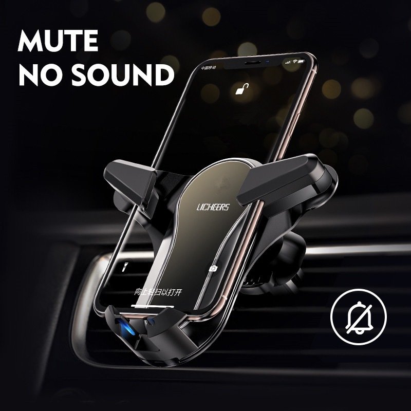 LINGCHEN Car Phone Holder For Iphone X Xs Max Samsung S9 In Car Air Vent Mount Car Holders For Xiaomi Huawei Mobile Phone Stand
