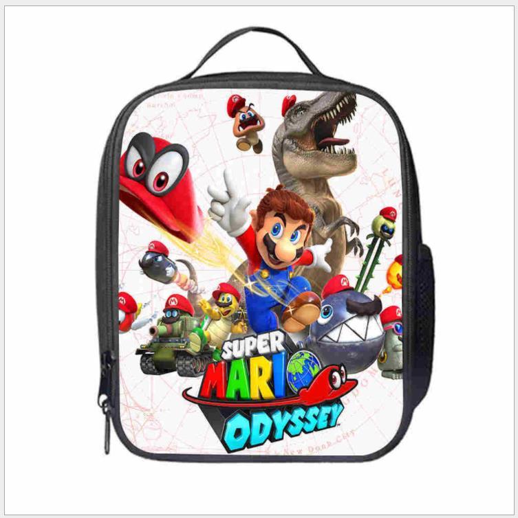 Bolsas de Armazenamento de Alimentos Moda Mario Bros Sonic Boom Hedgehogs Almoço Bolsas Estudante Escola Crianças Isolados Térmicos Mod. 137940