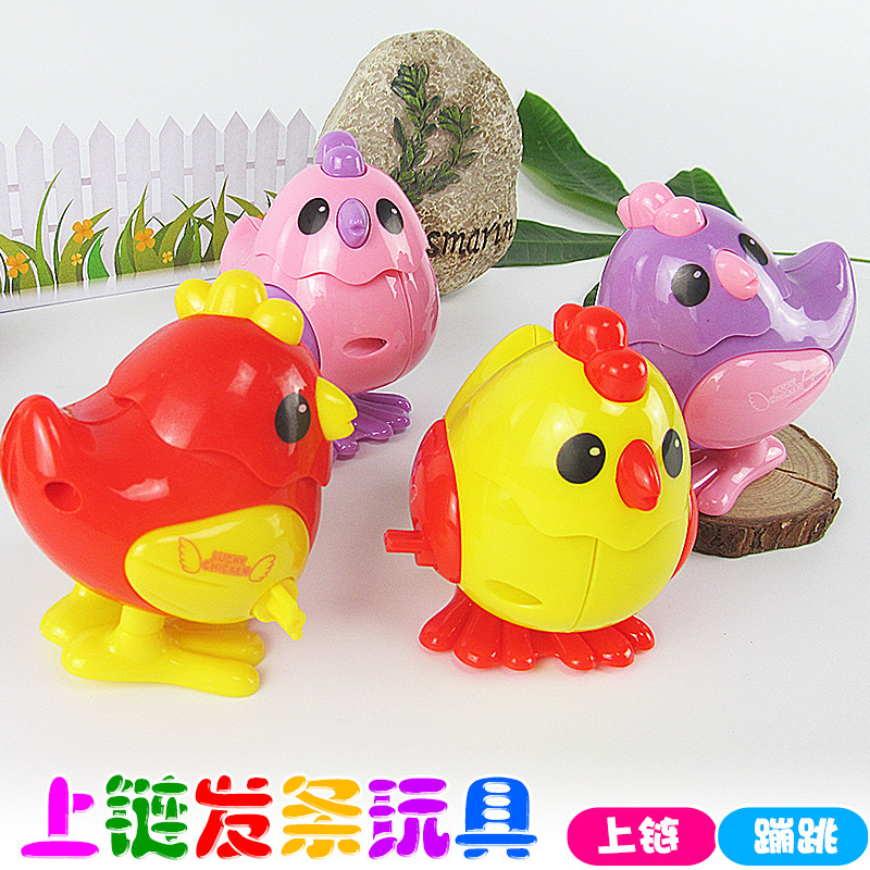 Hot Selling Winding Toy Spring Chicken Jumping Chicken Winding Seven Colours Ji Stall Supply Of Goods Toy