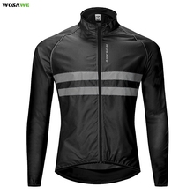 WOSAWE Cycling Jacket High Visibility MultiFunction Jersey Road MTB Bike Bicycle Windproof Quick Dry Rain Coat Windbreaker wosawe cycling windbreaker jacket cycling motocross riding outwear lightweight waterproof coat mtb bike jersey reflective coat