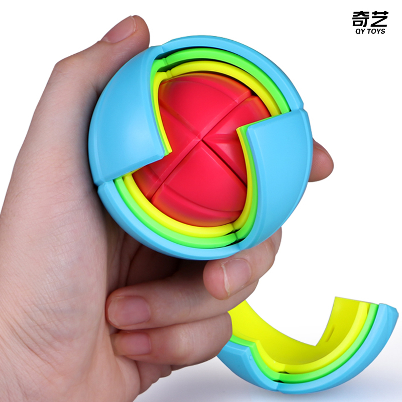 QiYi Wisdom Ball Cube For 3D Puzzle Montessori AntiStress Assembling Maze Juguetes For Children Education Rubix Magnetic Toys