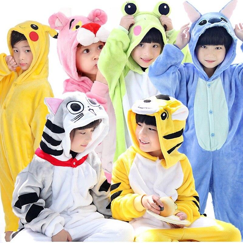 2019 зимняя одежда для сна детские пижамы кигуруми комбинезоны пижамы единорог рождественские детские пижамы с животными белье для детей с капюшоном