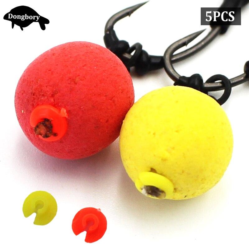 5PCS=50PCS Carp Fishing Accessories Bait Floss Cap  Bait Stops Bead For Carp Fishing Boilies Pellet Stopper Chod Rig Tackle Tool