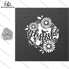 New Dies 2020 Thank you for the card Cutting diy photo album cutting dies Scrapbooking Stencil Card Making  metal