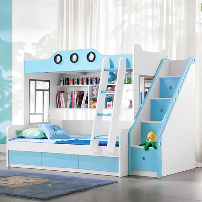 Children Beds Kids Solid Wood Bunk Bed Double Beds With Slide Stair For Children Bedroom Furniture Bedroom Sets Aliexpress