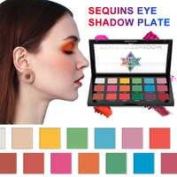 USHAS 18 Color Nude Glitter Matte Eyeshadow Palette Makeup Glitter Pigment Smoky Eyeshadow Palette Waterproof Cosmetics TSLM2