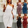 Sleeveless Sloping Shoulder Irregular Strappy Party Dress Commuter High-waist Pullover Lace Dress Summer 2021