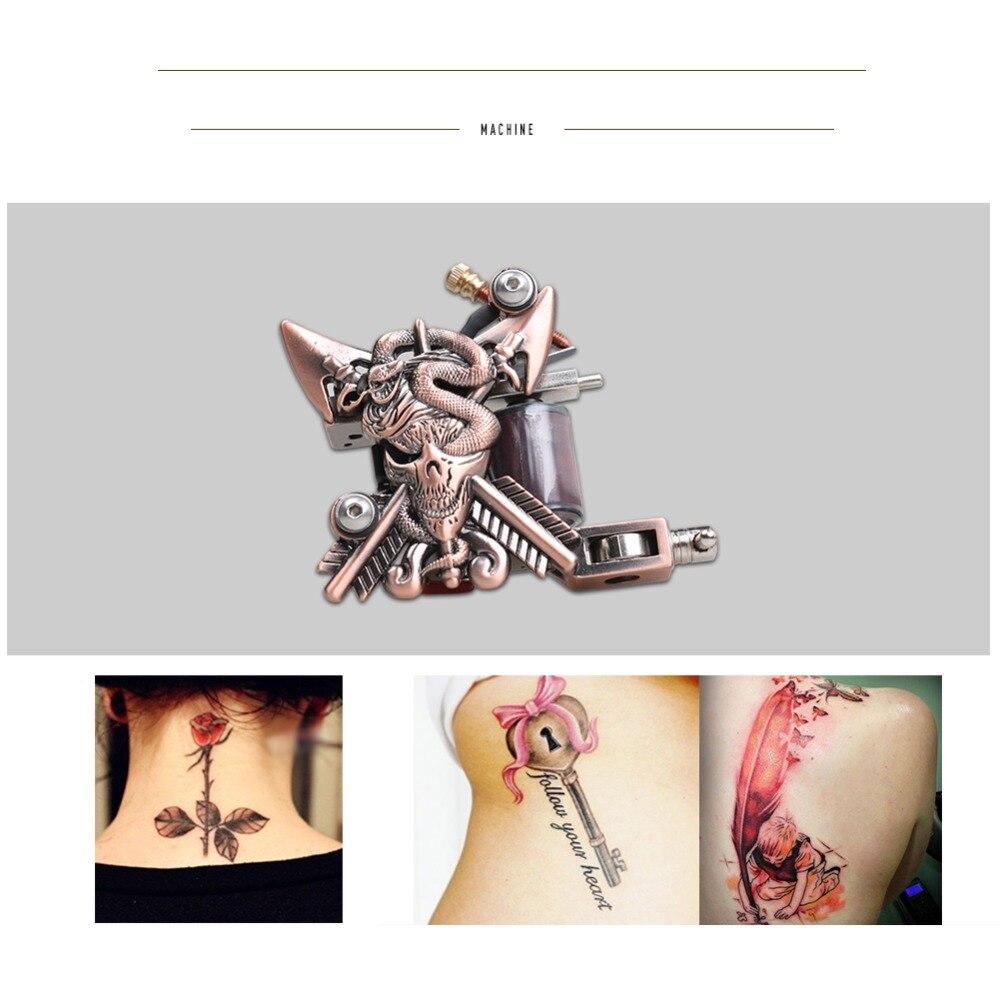 Beginner Compleet Tattoo Kit 4 Machinegeweren 40 Kleur Inks Voeding Naalden Grip Tip Set In Doos D120GD 14 - 3