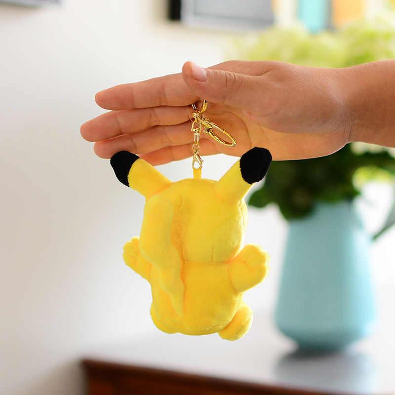 Высокое качество аниме 12 см плюшевый Пикачу игрушки коллекция плюшевый Пикачу куклы игрушки брелок для детей игрушки Рождественский подарок