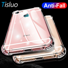 Shockproof Phone Cases For iPhone X XR 6 6S Transparent Soft Tpu Cases For iPhone 7 8 11 Pro Silicone Full Cover Crystal Clear cheap Tisluo Half-wrapped Case Transparent Anti-knock Apple iPhones iPhone 6 iPhone 6 Plus IPHONE 6S iPhone 6s plus iPhone 7 iPhone 7 Plus