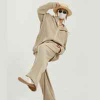 Men Women Stripe Pleated Elastic Fabric 2 Pieces Hooded Jacket + Pants Sets Tracksuits Male Coat Sweatpants Outerwear Suits