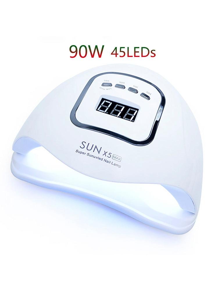 90W UV LED Nail Lamp Nail Dryer 45 LEDs UV Lamp Curing UV Gel Nail Polish Professional Nail Lamp Dryer LED Manicure Salon Lamp