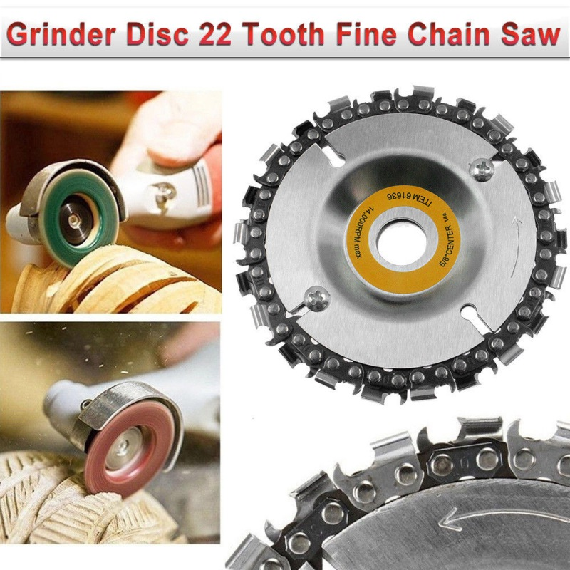 New 22 Tooth Grinder Disc Saw Angle Grinder Sanding Disc Chainsaw Circular Saw Blade And Chain Household Woodworking Accessories