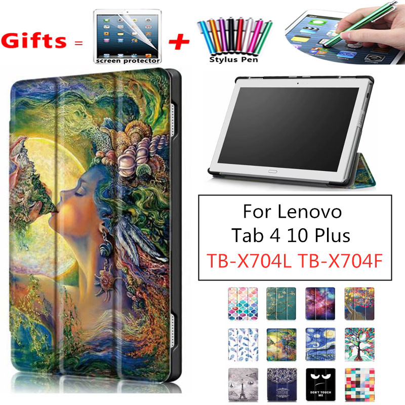 Case Cover For Lenovo Tab <font><b>4</b></font> 10 Plus TB-X704L X704F L <font><b>10.1</b></font>