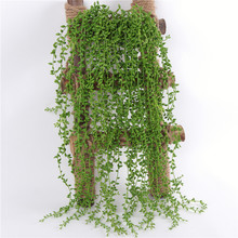 Hanging-Basket Garland Greenery-Decor Vine Wall Artificial Succulent Office Home