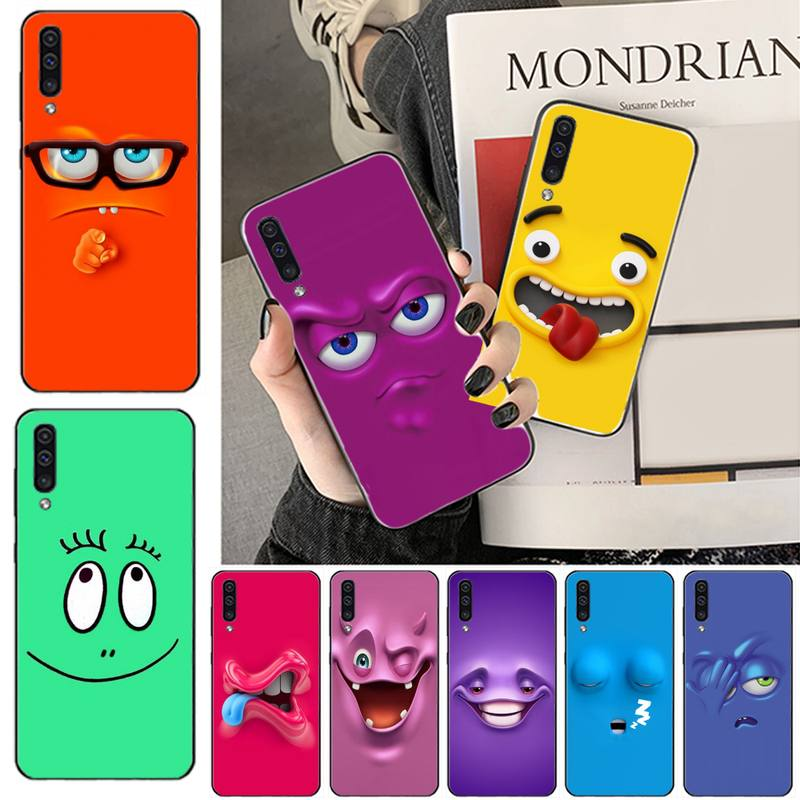 <font><b>Funny</b></font> Faces Newly Arrived Black Cell Phone <font><b>Case</b></font> For <font><b>Samsung</b></font> A20 A30 30s A40 A7 2018 J2 J7 prime J4 Plus S5 <font><b>Note</b></font> <font><b>9</b></font> 10 Plus image