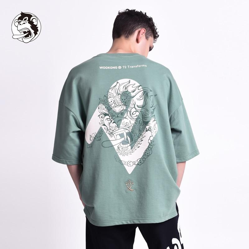 Estate Tee di Skateboard Ragazzo Skate Tshirt Magliette e camicette 2019 Nuovo Colore T Shirt Mens Cotone casual T Shirt Grafica Personalizzata WOOKONG di Marca - 2