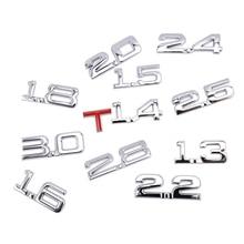 Car 3D Metal 1.6T 1.8T 2.2T 2.5T 3.0T Logo Sticker Emblem Badge Decals Auto Tail Sticker