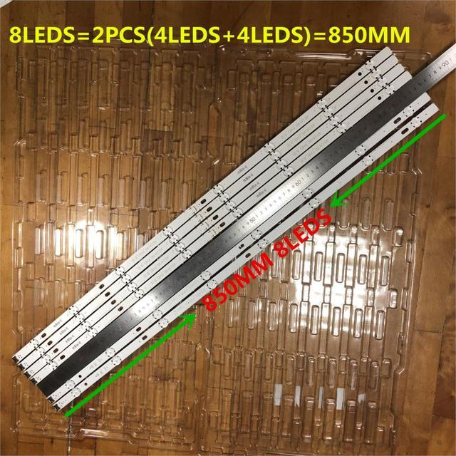 6 Stuks/partij 8LED 850Mm Led Backlight Strip Voor Lg 43LH604V 43LH60_FHD_A Type Innotek 16Y 43Inch FHD_LED_ARRAY_Rev0.0_151027 Nieuwe