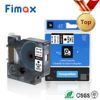 Fimax multicolorido 45013 40913 43613 45803 40918 45010 compatível para dymo 12mm etiqueta fita para fabricante de etiquetas dymo lm160 280 pnp
