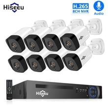 H.265 áudio 8ch 1080p poe nvr cctv sistema de segurança 4 pçs 2mp registro poe ip câmera ir kit vigilância vídeo ao ar livre 1tb hdd