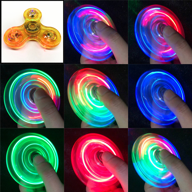 Relief-Toys Spinners Led-Light Kinetic-Gyroscope Hand-Top Edc Stress Glow-In-Dark Luminous img3