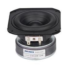 AIYIMA 1Pcs 3.5 Mid-woofer Speaker Rubber Edge Long Stroke Bass Audio Speaker 2 Ohm 30W HiFi Home Theater Loudspeaker