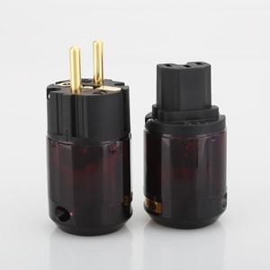 Image 5 - Darmowa wysyłka 5 par P 079E + C079 zasilanie prądem zmiennym wtyczki kablowe 24k pozłacane wtyczka zasilania SCHUKO
