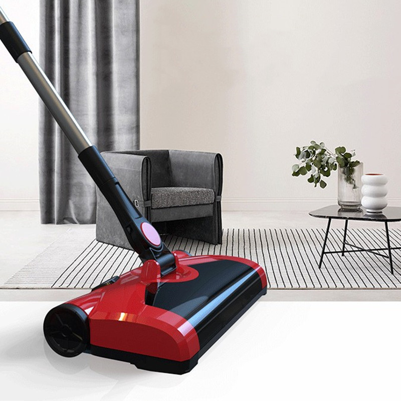 Household Cordless Broom Sweeper Electric Mop Pusher Sweeper Vacuum Cleaner Sweeper Multifunction Machine Low Noise Rotary Sweep