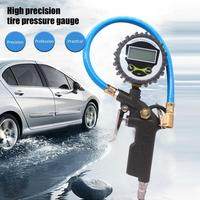 Car Tire Digital Pressure Gauge Durable Digital Display Inflatable Tool Aluminum Alloy Pressure Dial Gauge Tire Pressure Monitor Systems    -
