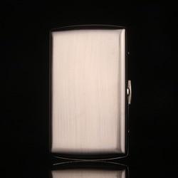 Boîte à Cigarettes étui à Cigarettes en métal et boîte de support, boîte à Cigarettes en acier inoxydable blanc argenté, pour 12 Cigarettes, cadeau de fête, coffret E