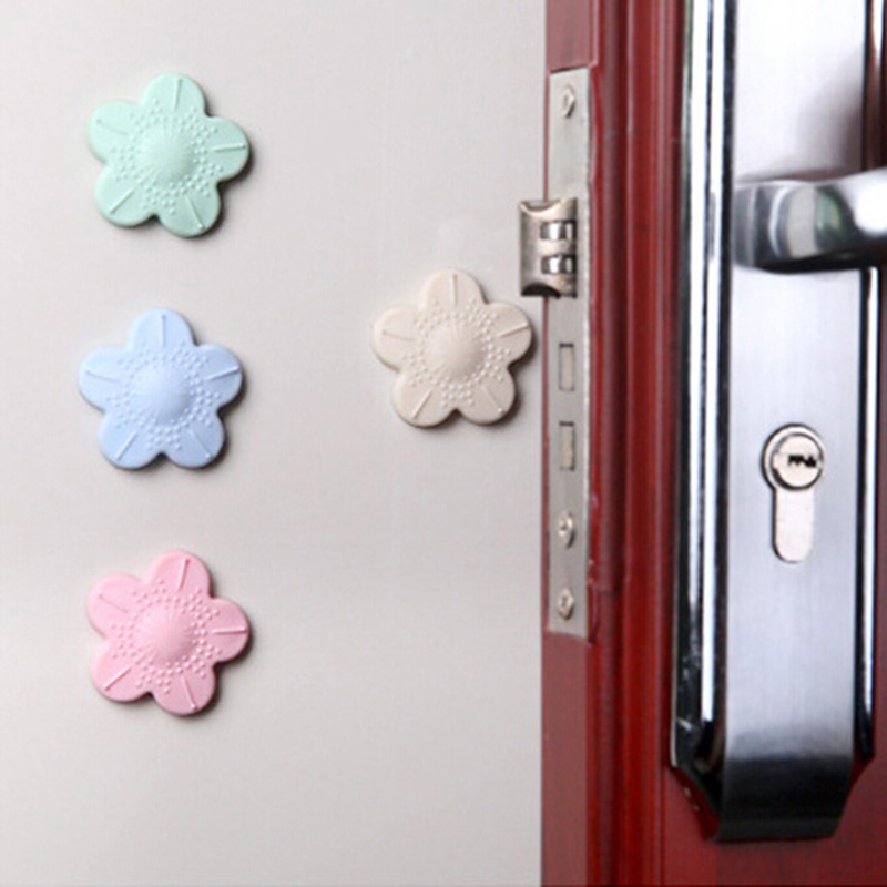Cherry Blossoms Door Rear Wall Anti Collision Mat Anti Touch Safety Door Handle Wall Protection Cushion Shock Pad Gate For Kids