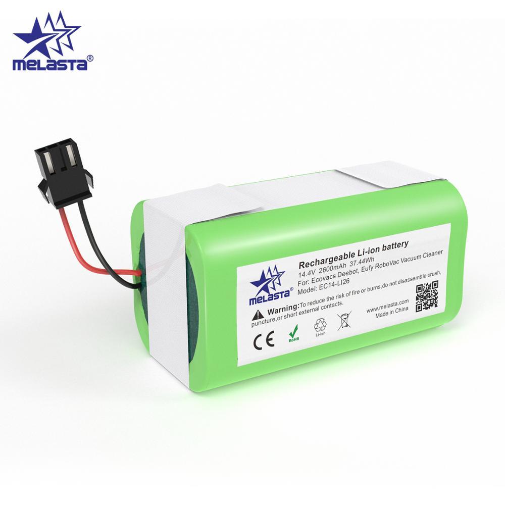 Melasta 14.4v 2600mahのリチウムイオン電池コンガ優秀990/y ecovacs deebot N79/N79S/DN622 eufy robovac 11/11s/12/15C/30/35C|交換電池|   -