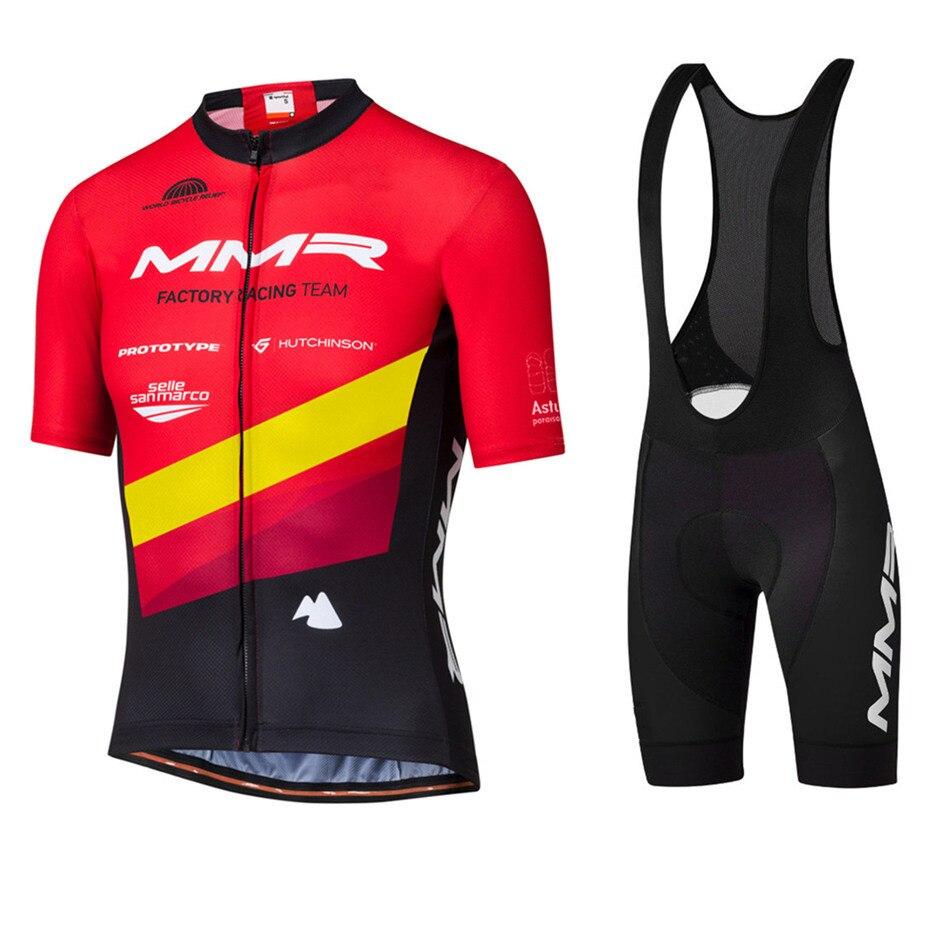 2020 Pro Cycling Teamclothing MMR Men's Short Sleeve Jersey Sets Gel Pad Bib Shorts Ropa Ciclismo Maillot MTB Road Cycling Kits