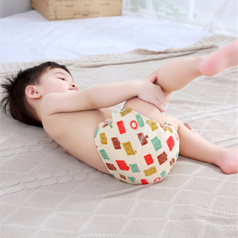 6 Layer Waterproof Reusable Cotton Baby Training Pants Infant Shorts Underwear Cloth Baby Diaper Nappies Panties Nappy Changing 6