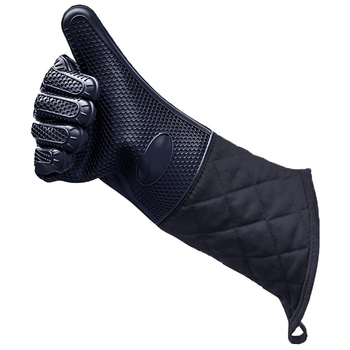 1Pc Food Grade Heat Resistant Silicone Kitchen Barbecue Oven Glove Cooking Bbq Grill Glove Oven Mitt Baking Glove