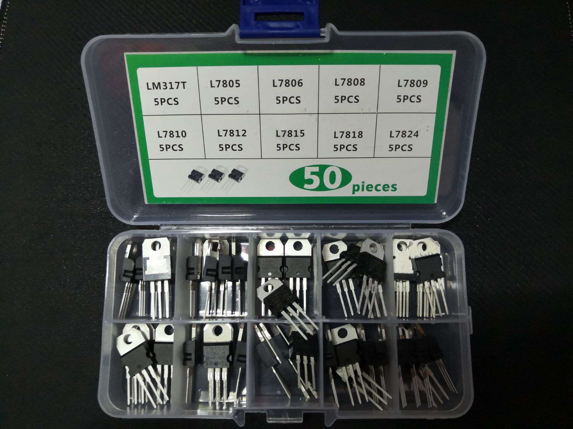 Transistor-Kit 7818/7824 7809/7810 50pcs 10value--5pcs Voltage-Regulator-Box Three-Terminal