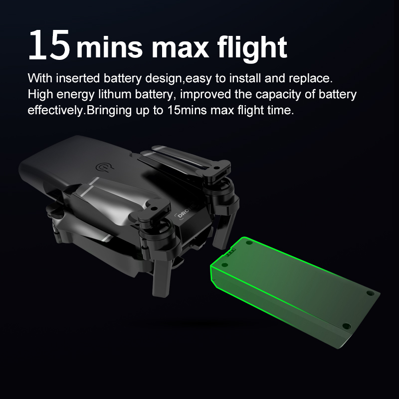 2020 new S8 drone 1080P 4K HD optical flow dual camera, WIFI FPV real-time transmission foldable four-axis RC aircraft toy