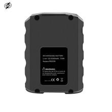 ZNTER 12V 6000mAh Rechargeable Li-ion Battery for Ridgid R82059 AC82059 AC82049 130220001 L50